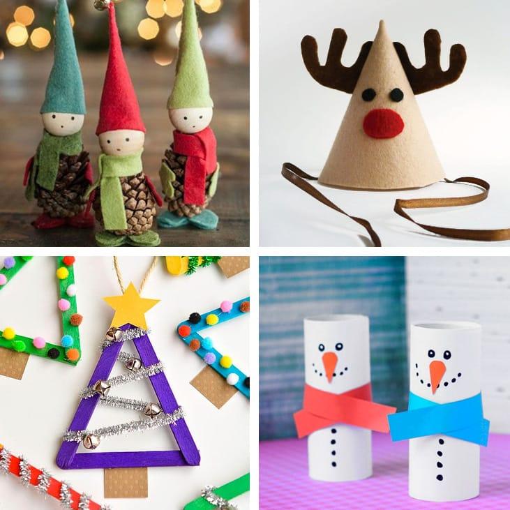 Delle semplici cornici fatte in cartoncino e decorate con glitter e brillantini;; Lavoretti Di Natale Per Bambini 32 Idee Da Copiare Ispirando