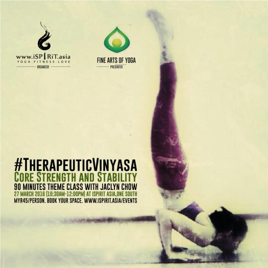Therapeutic Vinyasa Core strength with Jaclyn Chow