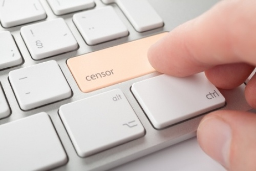 censorship internet button