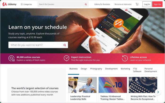 Udemy course selling platform