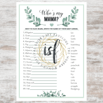 7 Matching Printable Baby Shower Games In A Gender Neutral Greenery Theme I Spy Fabulous