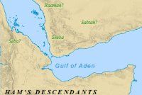 A map of Ham, the son of Noah, and his descendants.