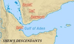 Sons of Noah: Map of Shem's descendants in the Sinai
