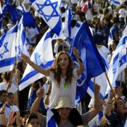 girl with Israeli flag