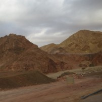 On the road up from Eilat to Har Yoash