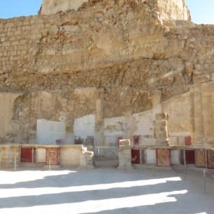 Fresco walls and plaster columns