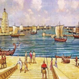 Caesarea harbor