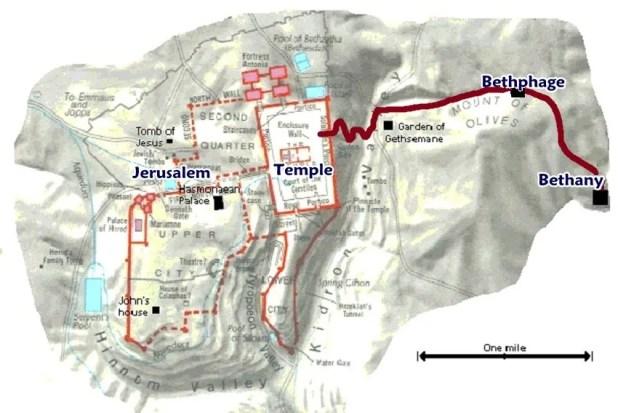 Bethany Bethphage map
