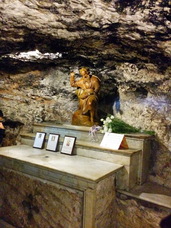 Elijah's Cave in Stella Maris Monastery