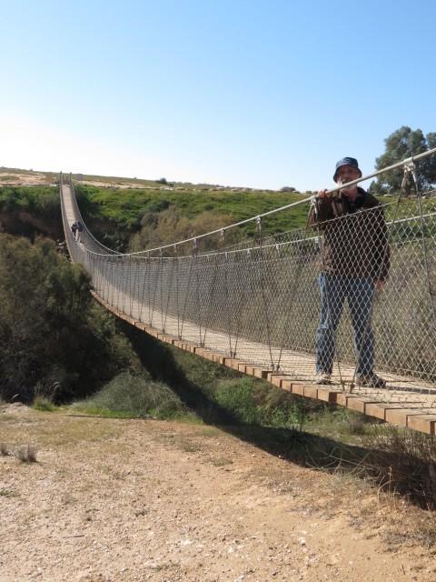 That's me! Nahal HaBesor Suspension Bridge