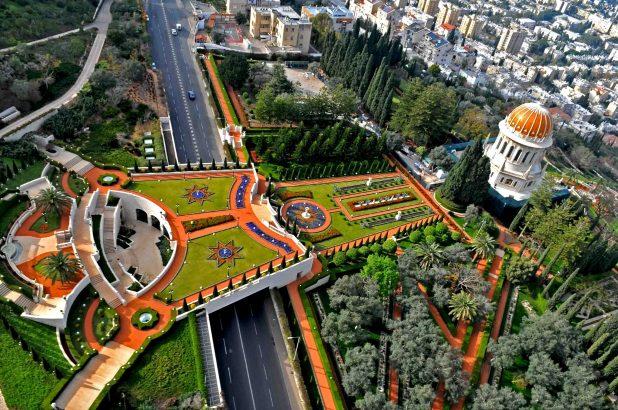 Bahai Gardens Haifa - http://igoogledisrael.com/2012/05/the-bahai-gardens-a-humdinger-of-a-stopover-in-the-north-of-israel/