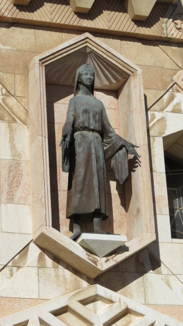 Outside the Catholic Church of the Annunciation