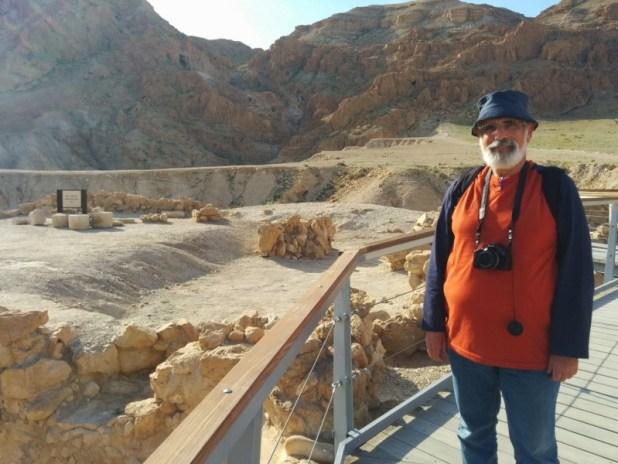 Here I am at Qumran