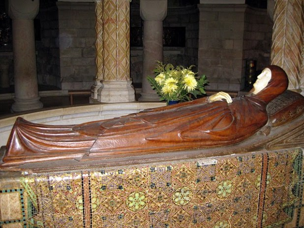 The body of Mary in a crypt in Dormition Church in Jerusalem.