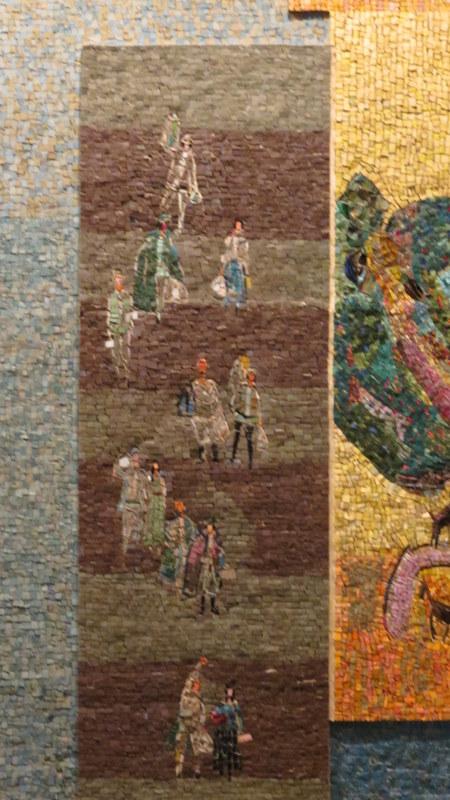 Nahum Gutman's Mosaic Wall - immigrants