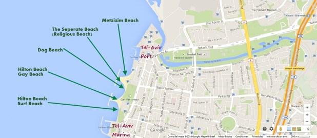 Tel Aviv Beach Map - North