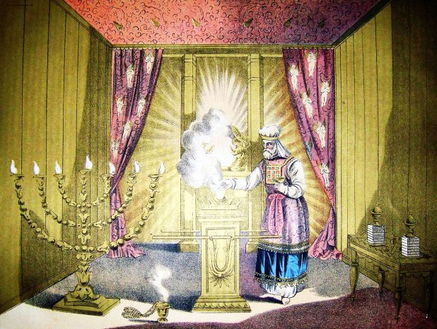 The Holy of Holies; illustration from the 1890 Holman Bible