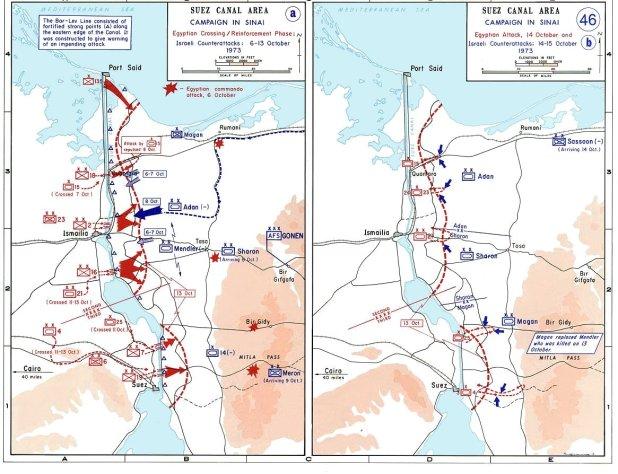 1973 Yom Kippur War Maps October 6–15.