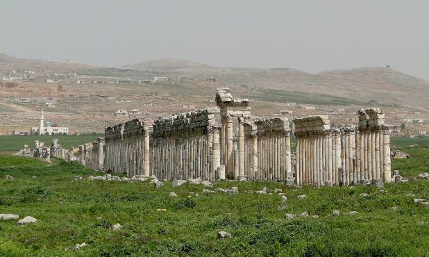 View of Apamea, Syria Credit: Bernard Gagnon
