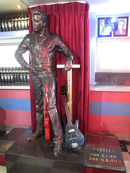 """In a small town outside Jerusalem, a roadside diner is devoted to all things Elvis Presley.  Everything about the Elvis American Diner, located about 12 miles outside Jerusalem, celebrates the performer known to many as simply """"the King."""""""