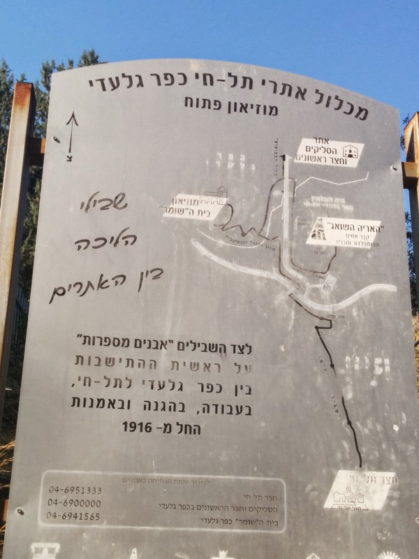 Navigation map Tel Hai Museum