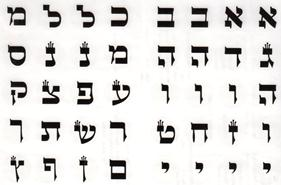 Aleph Bet Jewish Letters Stickers (crowned letters) Set of