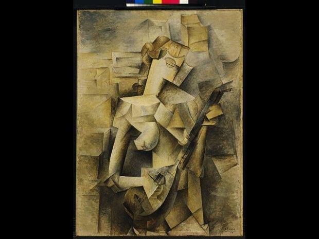 """Девушка с мандолиной"" (1910) Digital image © 2016, The Museum of Modern Art, New York/Scala, Florence"