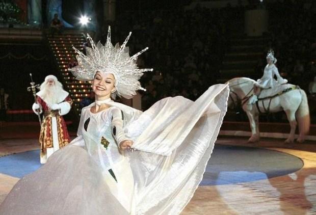 Фрагмент новогодней программы Московского цирка на Цветном бульваре