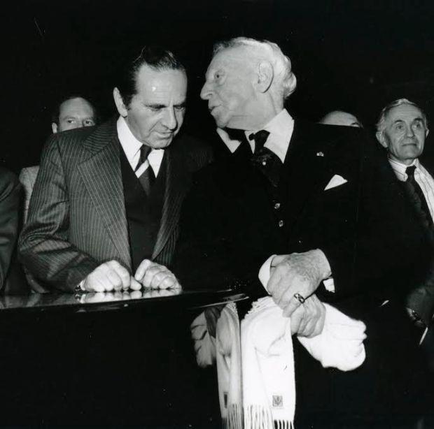 Яков Быстрицкий и Артур Рубинштейн