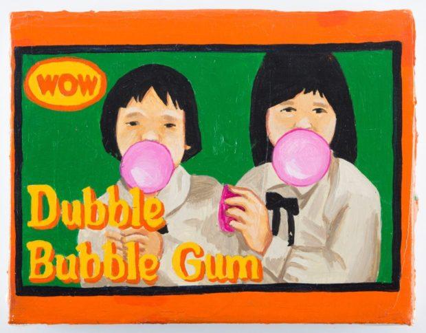 Офра Эяль «Dubble Bubble Gum», 2009|Холс, акрил|Из коллекции Мейрав и Эдмонда Катри