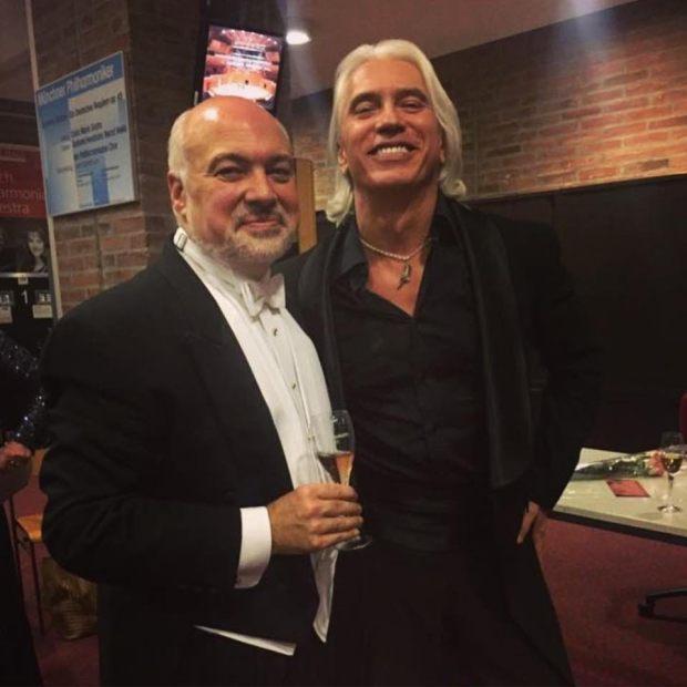 Константин Орбелян и Дмитрий Хворостовский после последнего сольного концерта в Мюнхене 29 октября 2016 года