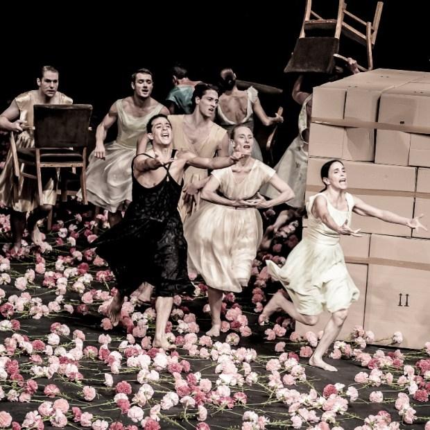 "Сцена из балета ""Гвоздики"" Театра танца Пины Бауш. Фото ©"