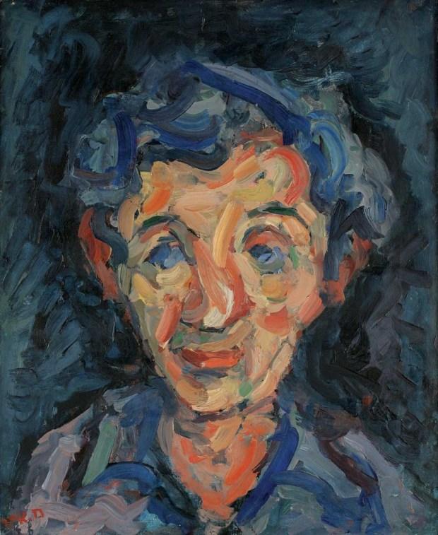 """Хаим Атар. Автопортрет. 1952 г. Из коллекции музея """"Мишкан ле-Оманут"""" в кибуце Эйн-Харод."""