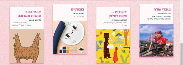Выставки фестиваля. Фото с экрана сайта фестиваля https://www.outlinejerusalem.com/