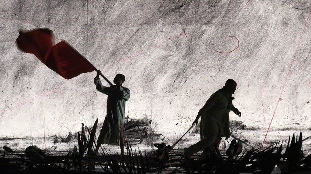William Kentridge, More Sweetly Play the Dance, 2015. Video still, courtesy of Wendy Fisher & A4 Arts Foundation. Предоставлено пресс-отделом Тель-Авивского музея искусств.