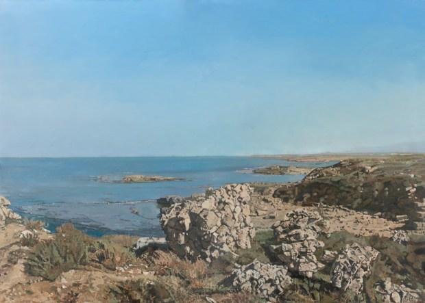 <em>Эли Шамир. Средиземное море. 2013. Масло на холсте. Частная коллекция</em>
