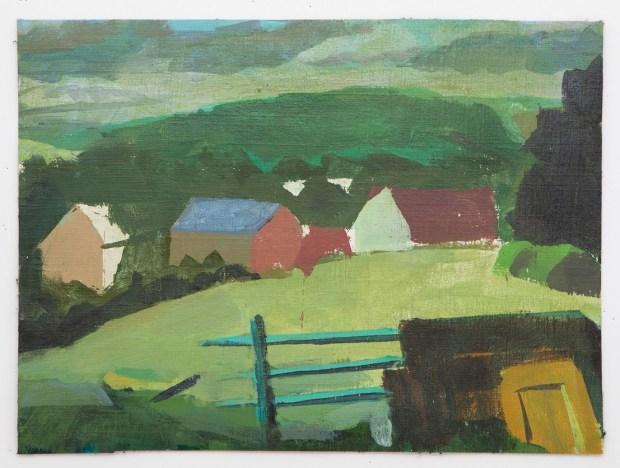 Rotem Amizur. Acrylic on canvas mounted on wood. 22X30cm