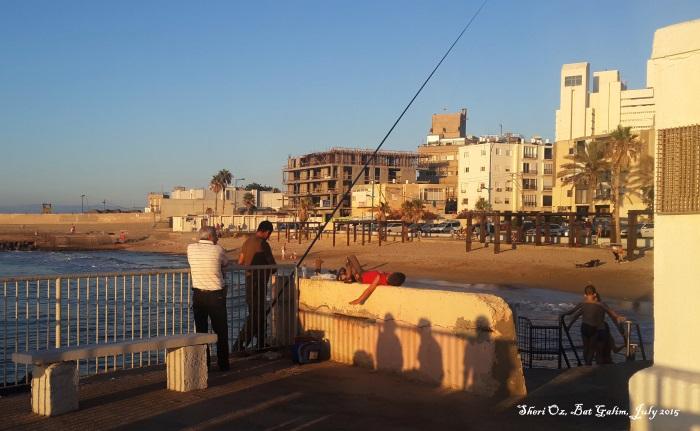 Afternoon on Bat Galim Beach - Getting Ready to Go Home