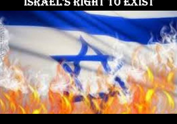 israel's right to exist - burning israeli flag
