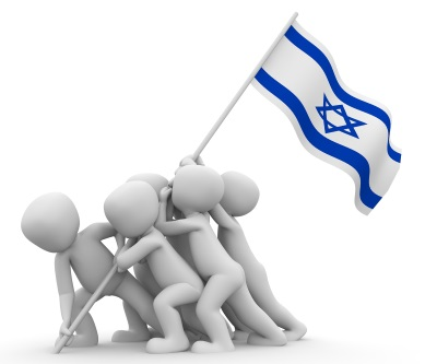 Zionism - planting the Israeli flag
