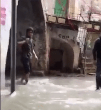Flood libel - occupation causes flooding in Hebron