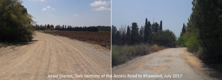 Two Sections of Khawaled access road