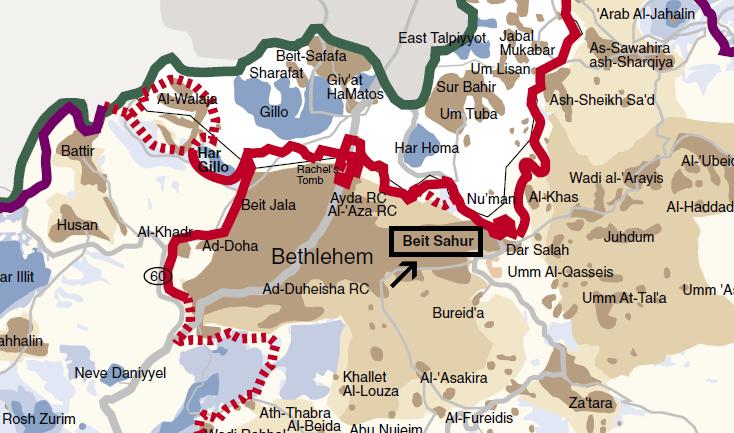Israel bashing - security wall map
