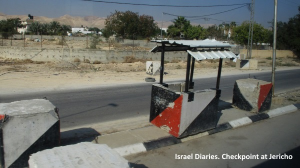 checkpoint at entrance to Jericho