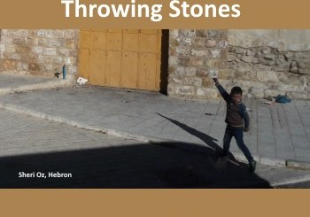 kid throwing stones in Hebron