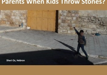 need proof parents should be punished when kids throw stones at Israelis