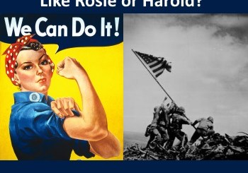 Identity replacement: Is Israel like Rosie or Harold?
