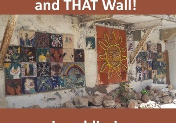 ghetto walls in Haifa with image of art on one of the walls