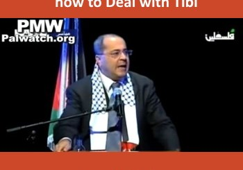 Image of Ahmed Tibi from video of his speech to PA students