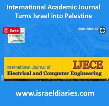 cover of international journal in which article turns Israel into Palestine